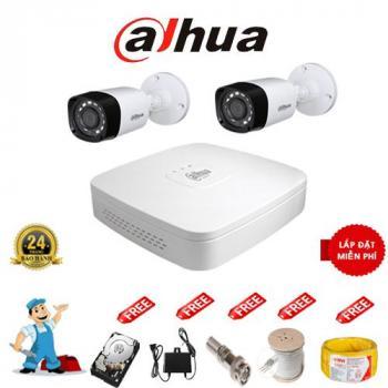Trọn Bộ Camera Dahua Full HD1080P 2 Mắt
