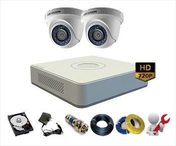Trọn bộ 2 Camera Hikvision 720HD