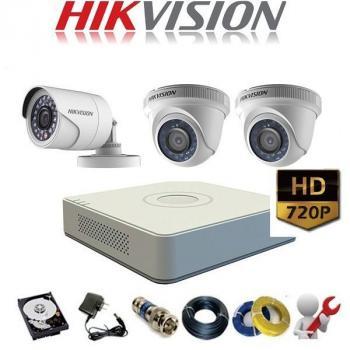 Trọn Bộ 3 Camera Hikvision 720 HD