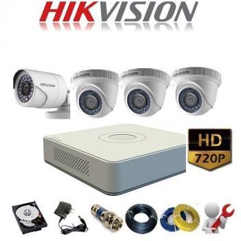 Trọn Bộ 4 Camera Hikvision 720HD