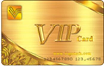 Thẻ từ Proximity loại mỏng ( Đã in sẵn mầu Vàng , chữ VIP Card ) - Thẻ EM
