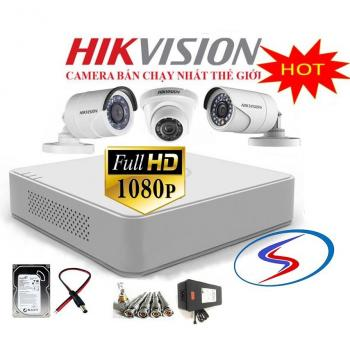 Trọn Bộ 3 Camera Hikvision 1080HD