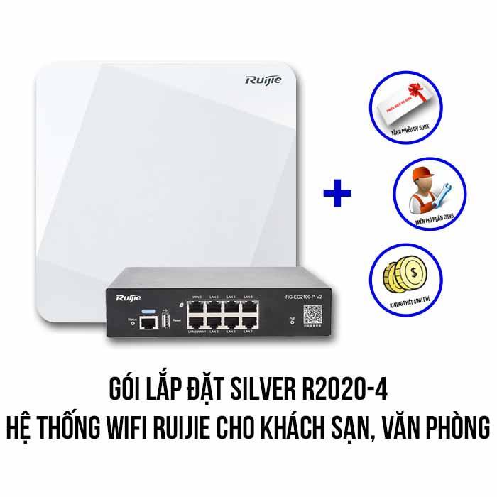 Lắp đặt hệ thống Wifi Ruijie cho khách sạn, văn phòng (Silver R2020-4)