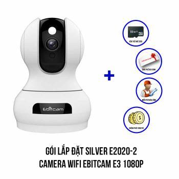 Lắp đặt camera Wifi EBITCAM E3 1080P trọn bộ SILVER E2020-2