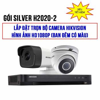 Trọn bộ 2 camera HIKVISION HD1080P Starlight (SILVER H2020-2)