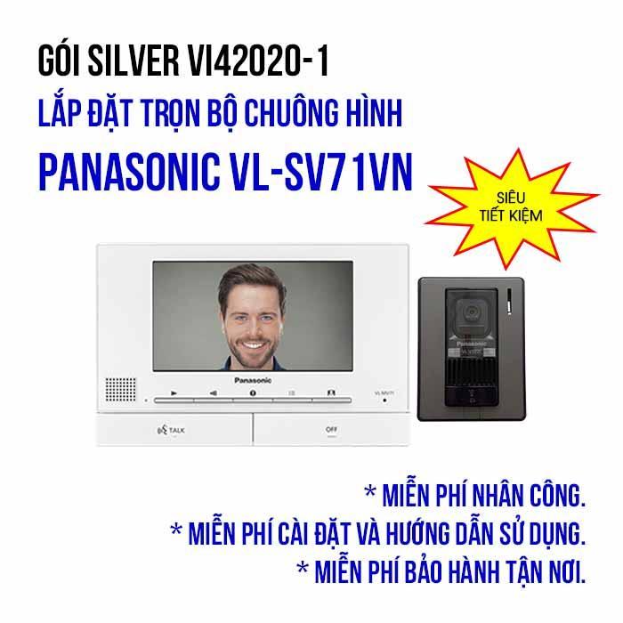 Lắp đặt trọn bộ chuông hình Panasonic VL-SV71VN (SILVER VI42020-1)