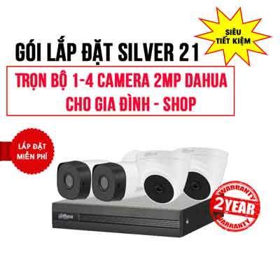 Trọn bộ 1-4 camera DAHUA HD1080P cho Gia đình – Shop (Gói Silver 21)